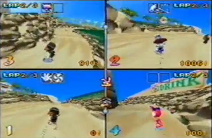 Cuatro jugadores, diversión asegurada